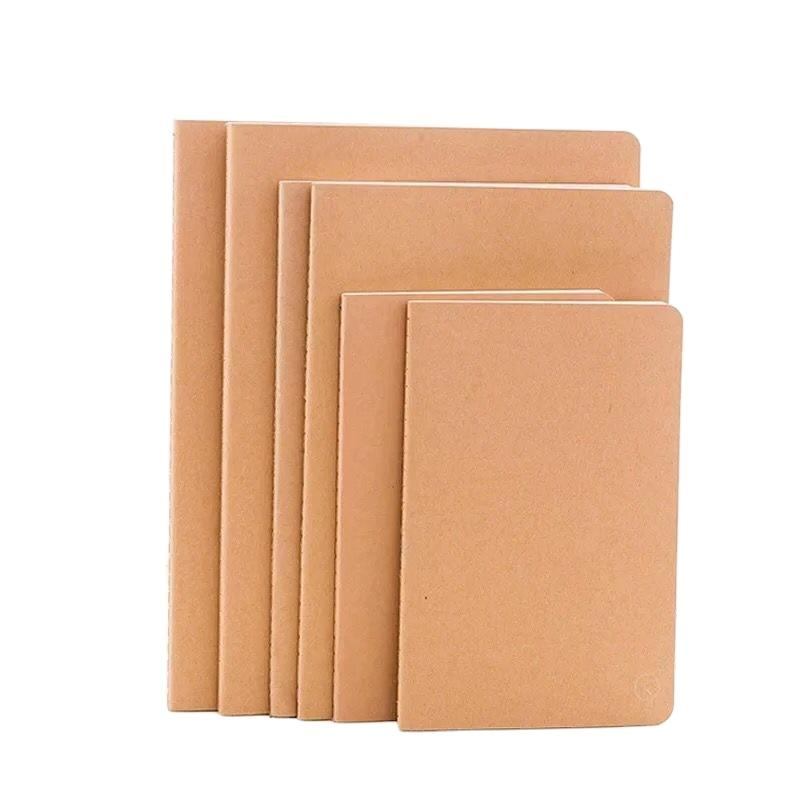 Brown 100% Recyclable Eco-Friendly Paper A5 Business Office Work Notebooks Word Book Note