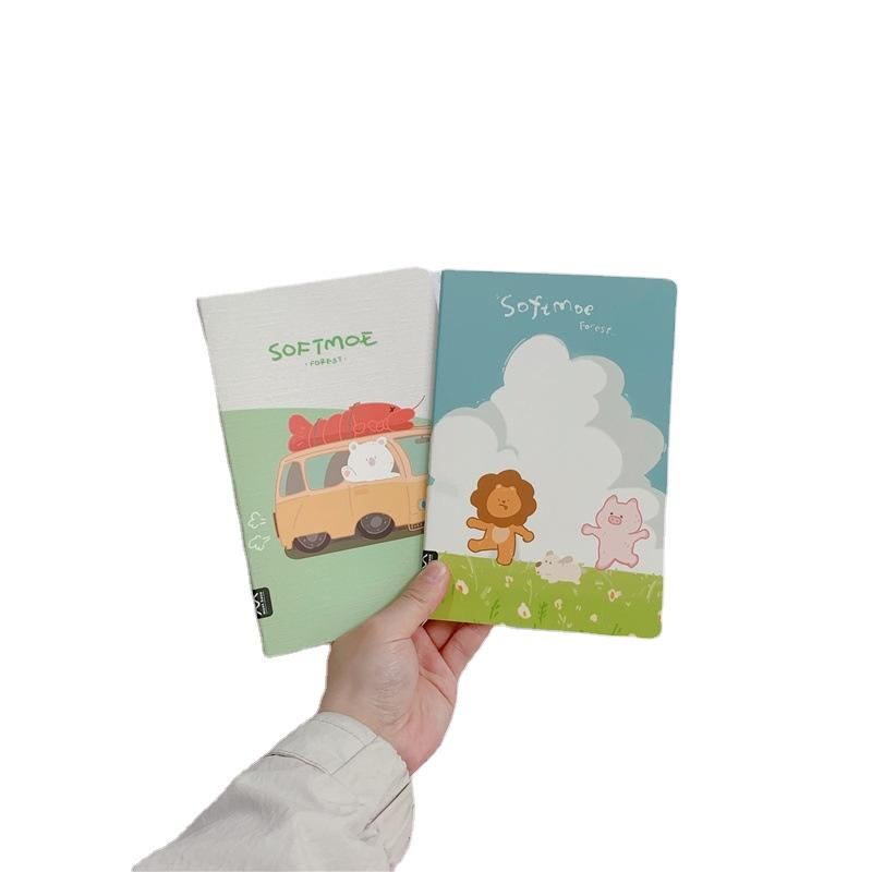 A5 Wholesale Cartoon Notebook Saddle Stitch Children Book Print Kids Reusable Learning Copybook Reading And Writing Book