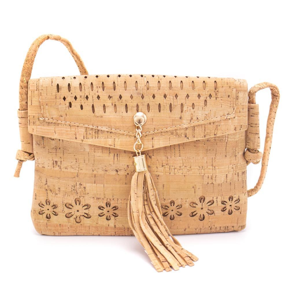 Laser Cut Eco-friendly Cross-body Natural Cork Women Small Bag