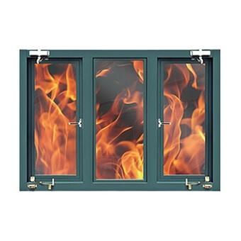 Top Quality International Standard Steel Fireproof Window
