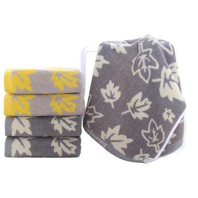 jacquard terry customized logo face towel