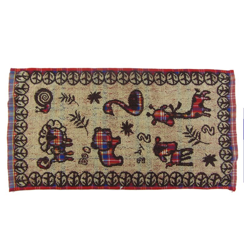 Customized two-color jacquard cotton soft face towel for children