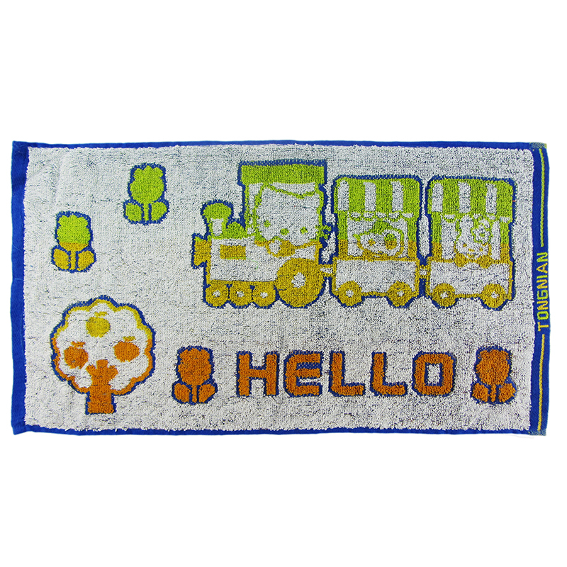 Custom two - color jacquard cotton Kitty cat face towel children's face towel