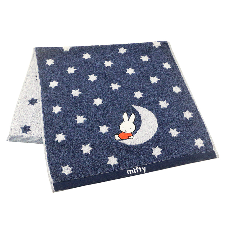 Custom made two-color jacquard Cotton soft face towel for children's face towel