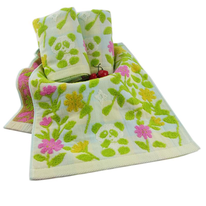 Custom gauze double - color jacquard cotton face towel household face towel