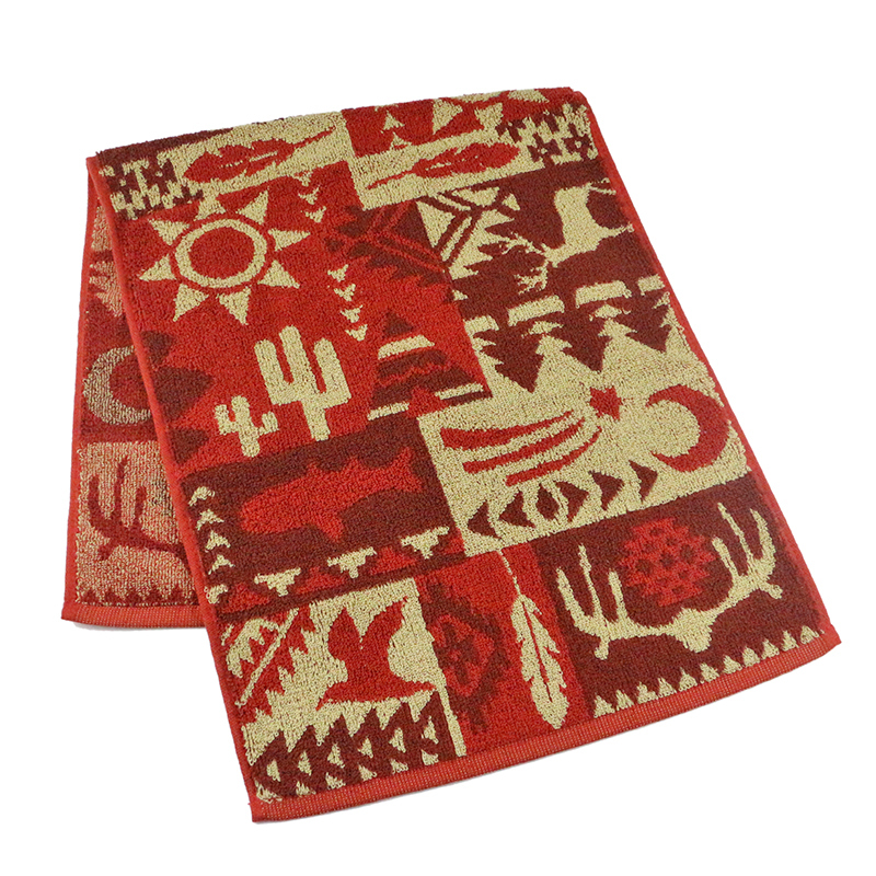 Customized face towel with double jacquard cotton yarn