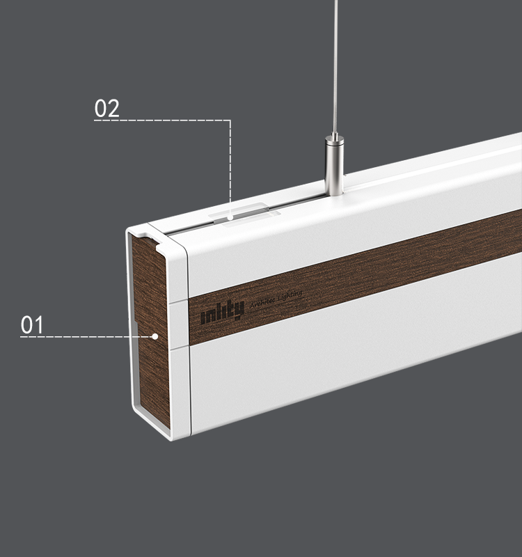 2019 European and American Market Rectangle Moderate Price 3000/4000/ 5000/6000KL1200*W40*H96mm LED Linear Light