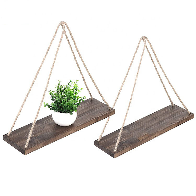 Modern style Fashion Designed Kitchen Rustic Wood Wall Floating Shelf