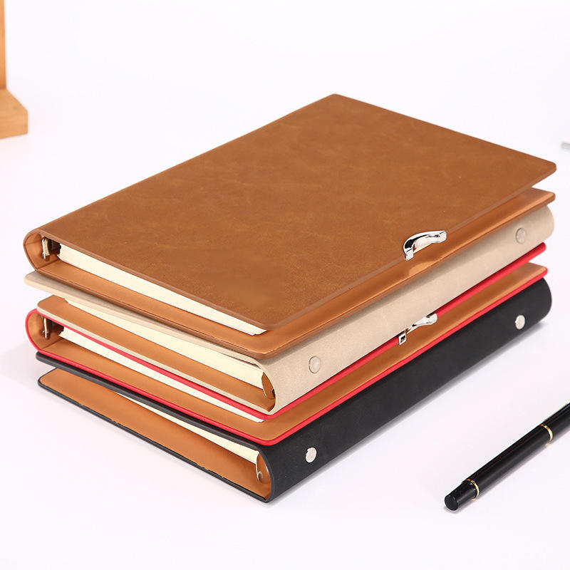 Manufacturer A5 PU leather Notepad meeting minutes notebook business office notebook with logo
