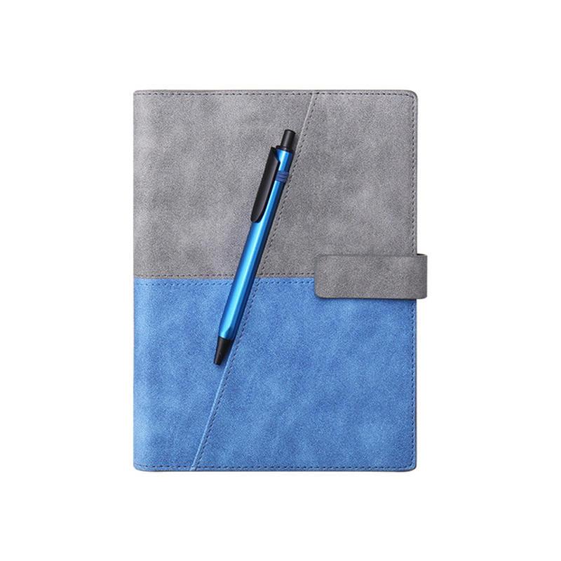 product-Custom logo pu leather notebook with pen holder-Dezheng-img-1
