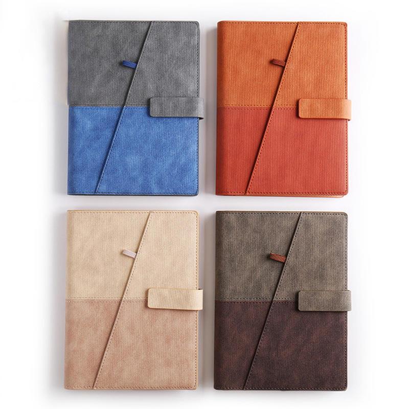 product-Dezheng-Custom logo pu leather notebook with pen holder-img-1