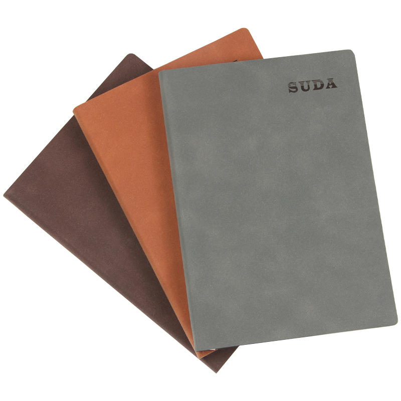 High quality free sample personalized printed pu leather custom a5 soft cover dotted notebook with logo