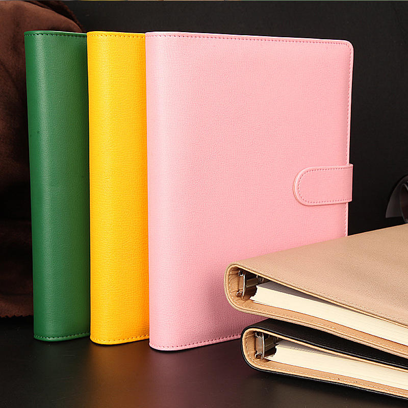 product-Custom File folder pu leather a5 planner binder cover notebook-Dezheng-img-2