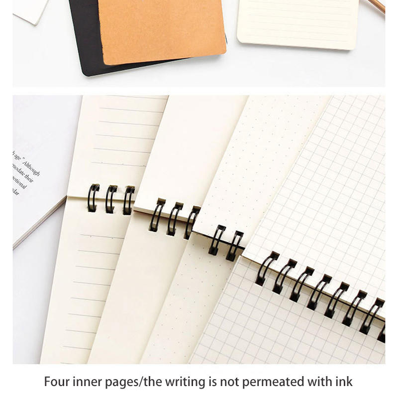 product-Dezheng-kraft paper cover notebook mini customized a6 spiral notepad note books-img-1