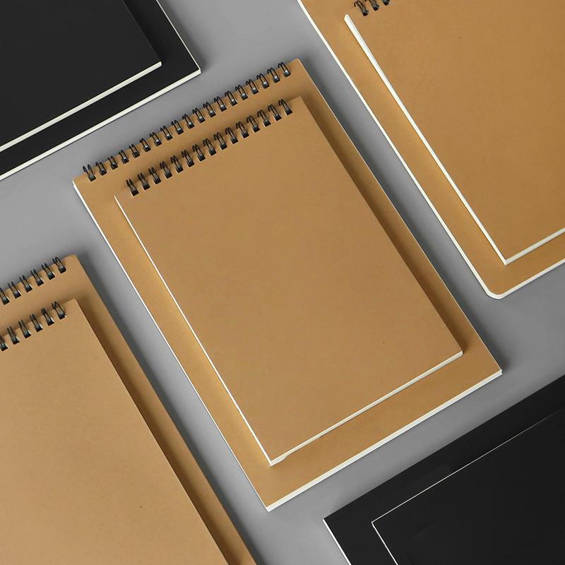 kraft paper cover notebook mini customized a6 spiral notepad note books