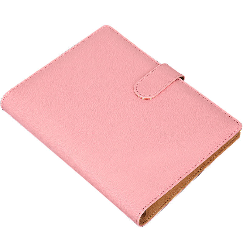 PU leather Pikn cover loose leaf 2021 planner 6 hole calendar pp style notebook with Magnetic buckle