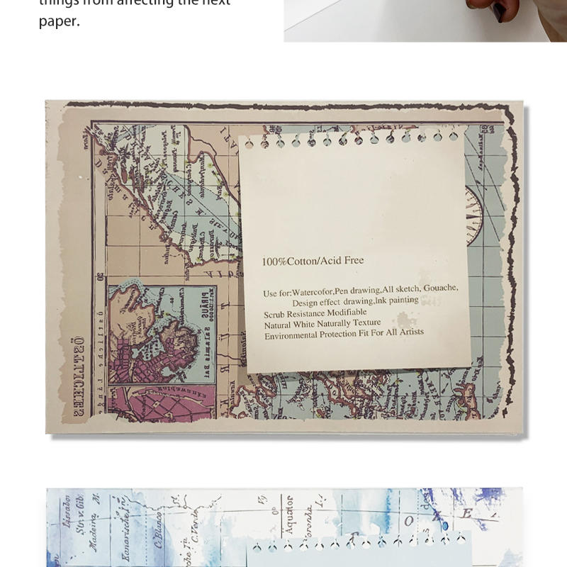 product-Dezheng-College level professional watercolor travel drawing book notebook for painting-img-1