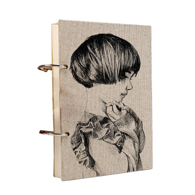 New Design Watercolor Sketch Notebook Custom Loose Leaf Binding Book Student Painter Sketchbook for Artist