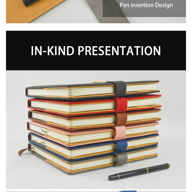 product-Dezheng-High end customized Pu soft cover student notebook with pen holder office supplier-i-1