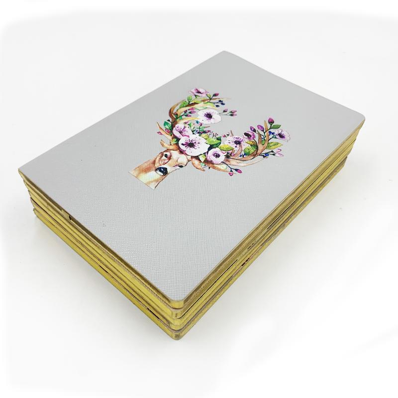 Custom logo Original design Soft Cover pu leather journals notebook school student notebooks