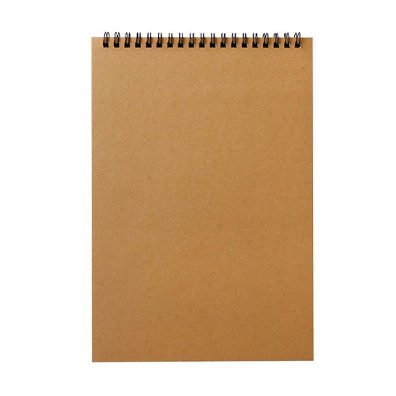Customized notebook kraft cover a5 paper note book spiral bonding notebook