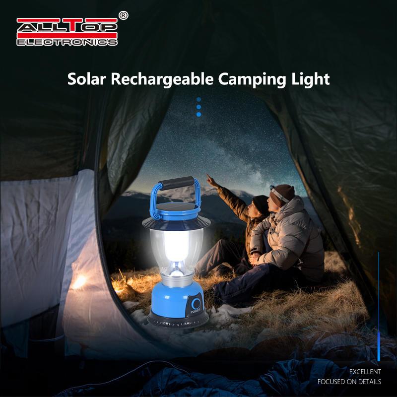 ALLTOP Outdoor Led Solar Camping Lamp Lantern Light Adventuridge Rechargeable Led Camping Lantern