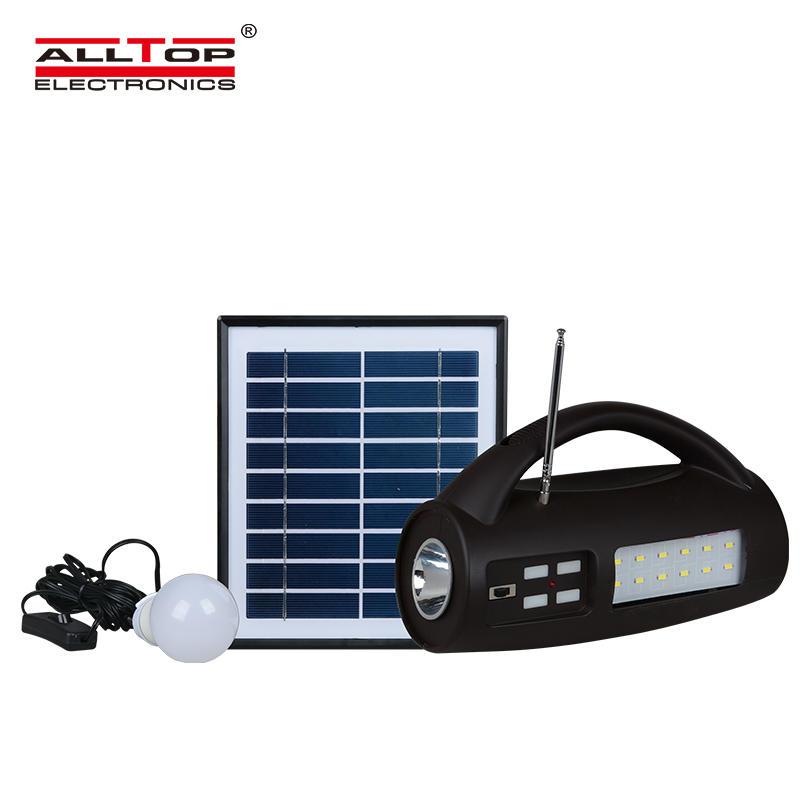 ALLTOP Energy saving Portable ABS 8W multi functional emergency light solar led lantern