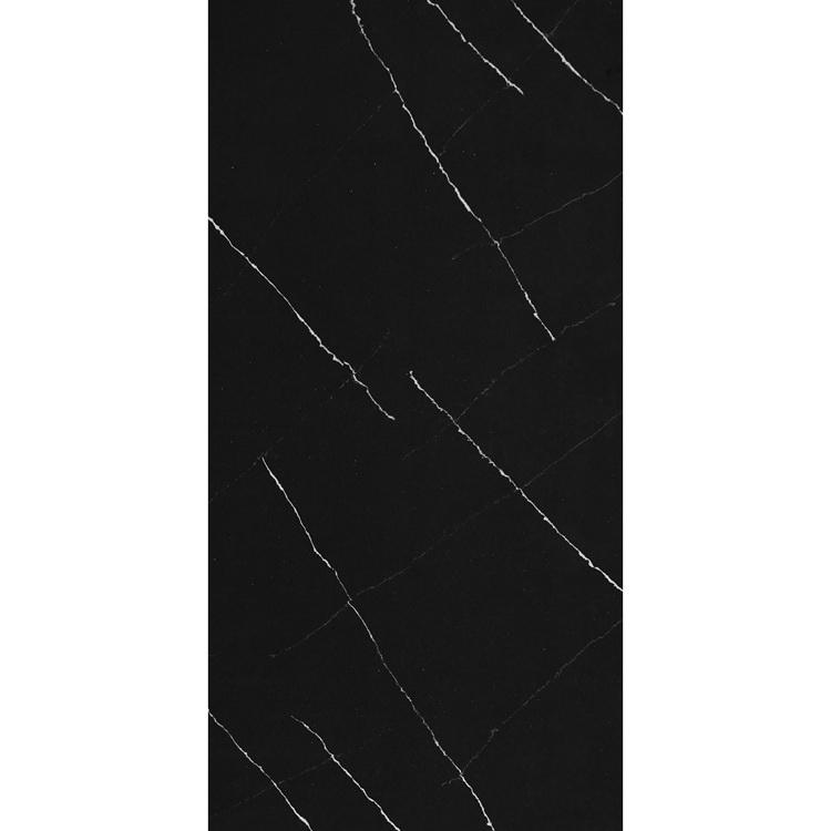 Calacatta Black Quartz Stone With White Vein, Artificial Black Quartz Stone Slab