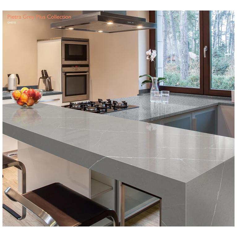 Piretra Grey Quartz Slabs Artificial Quartz Stone