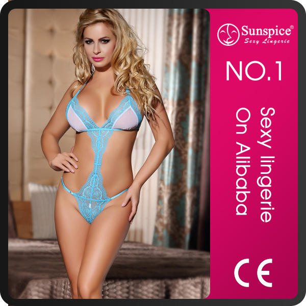 wholesale Floral Lace sexy g string teddy lingerie