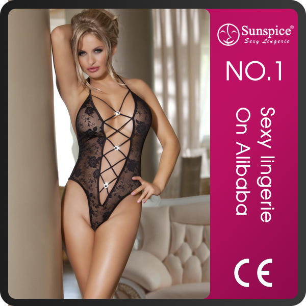 Hot sale top quality pretty mature girls sexy teddy lingerie