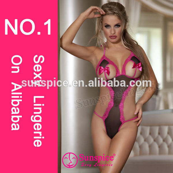 2015 Sunspice New Style open hot sexi images for girls sexy hot fashion show lingerie sexy teddy
