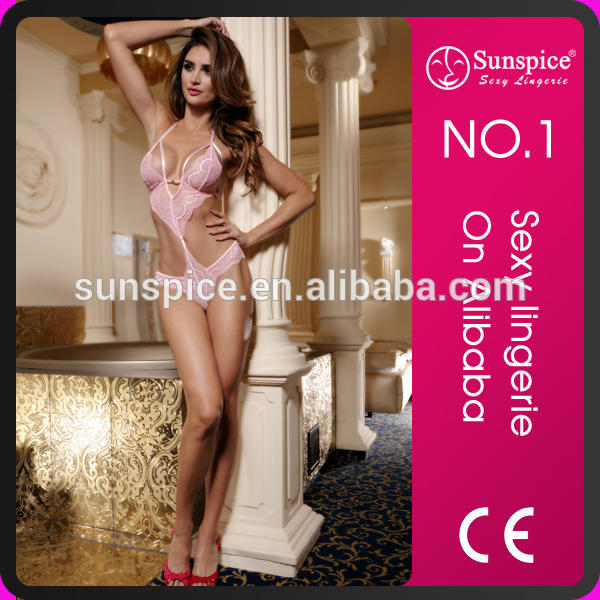 Sunspice top quality hor sale mature women sexy one piece string teddy lingerie