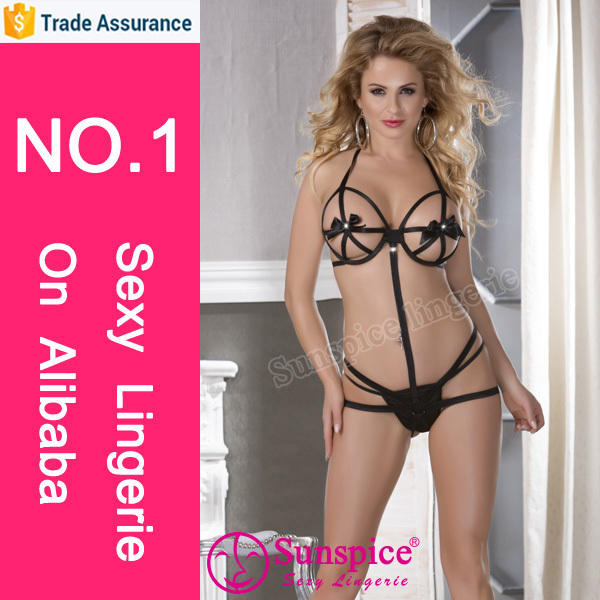 top supplier plus size fantastic peekaboo sexy teddy open bra sexy teddy lingerie
