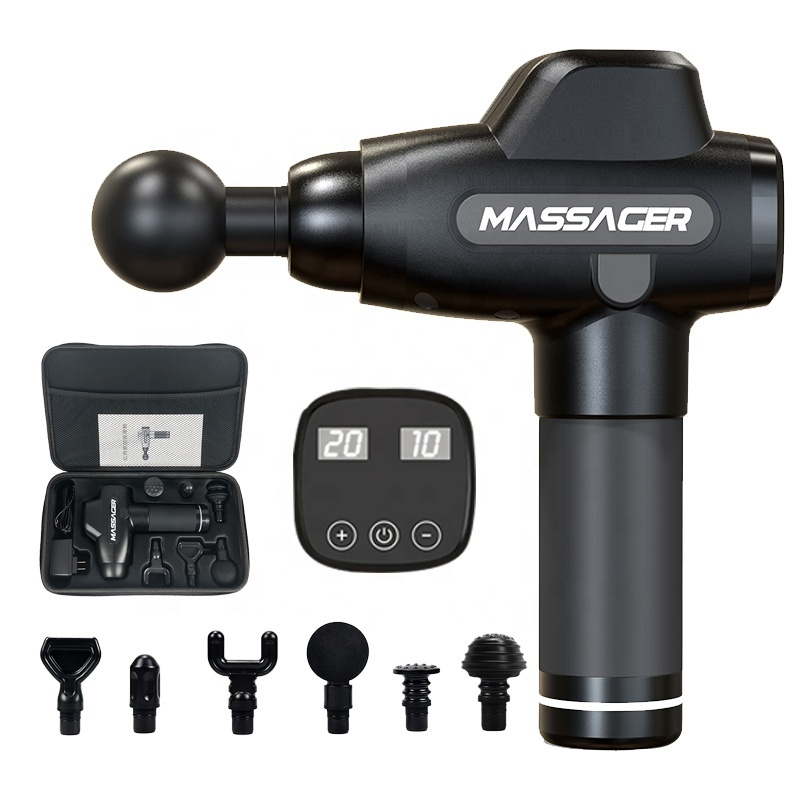 Massage Gun with Portable electronic cordprofessional dropshippertherapy muscle cord massage gun tool