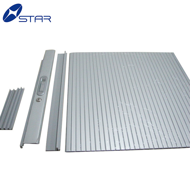 Surface wooden pvc roller shutter door cabinet