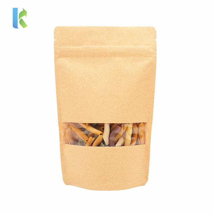 China Supplier Custom Design Printing Stand Up Pouch Packaging Kraft Paper Tea Bag