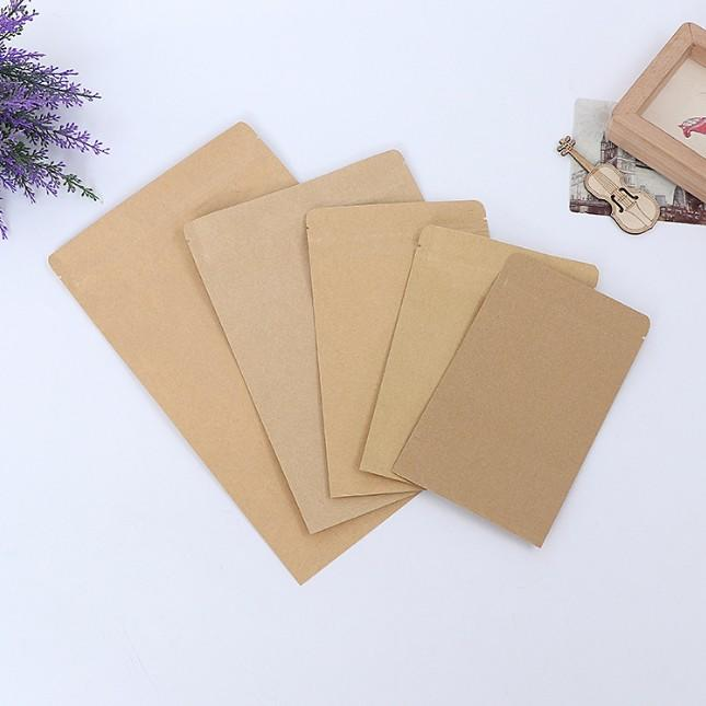 Kraft Paper coffee food packaging tea bags with flat bottom seal sealing small large pouch gift candy package