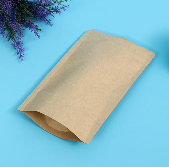 recyclable kraft paper custom resealablezipper bag