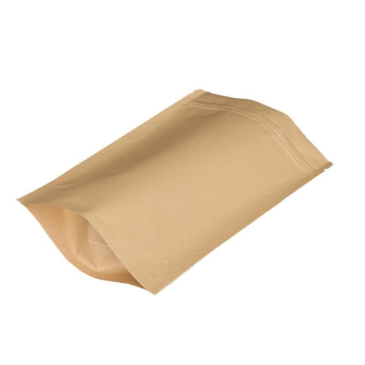 wholesale in stock kraft paper bags food chips tea bags aluminum film zipper locked bag