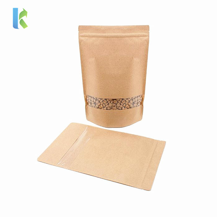 Custom Printed Stand Up Pouch with Zipper Packaging Kraft Paper Bag