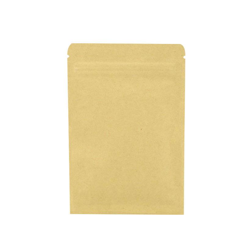 hot sale aluminized inner layer flat bottom self sealing plain brown kraft paper pouch bag