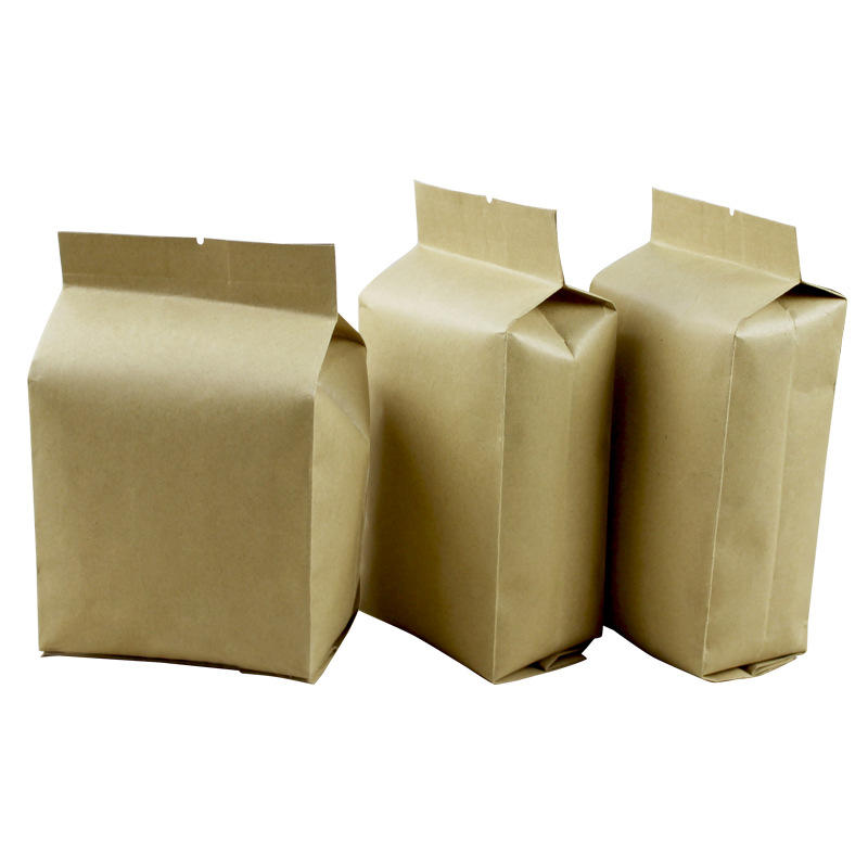 high quality factory wholesale aluminized stand up brown kraft paper organ bag
