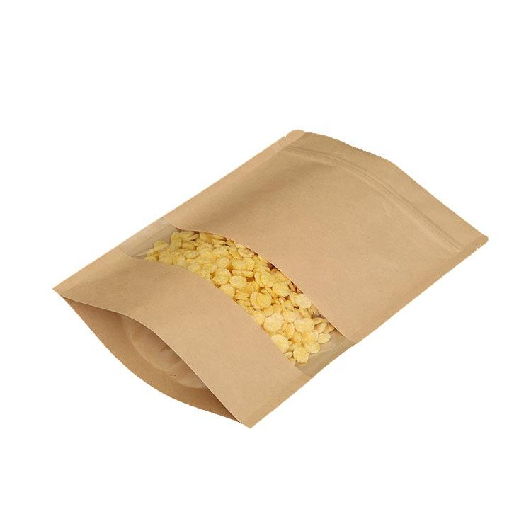 biodegradables papel kraft de pie bolsa