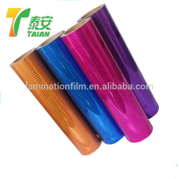 Plastic Laser Laminating Roll Films / Holographic Transparent Foil