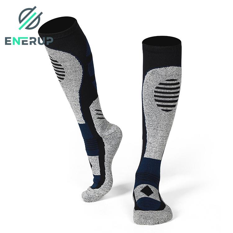 Enerup Custom OEM Customised Medias Feminina Thick for Mens Women Warm Winter Thick Sports Merino Wool Socks Wholesale