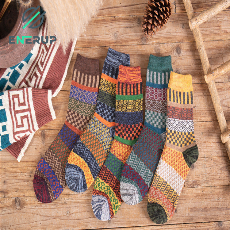 Enerup Custom Kaos Kaki Pria Calcetines Mujer Mens Heat Thick Insulated Extreme Boot Winter Warm Thermal Marino Wool Socks
