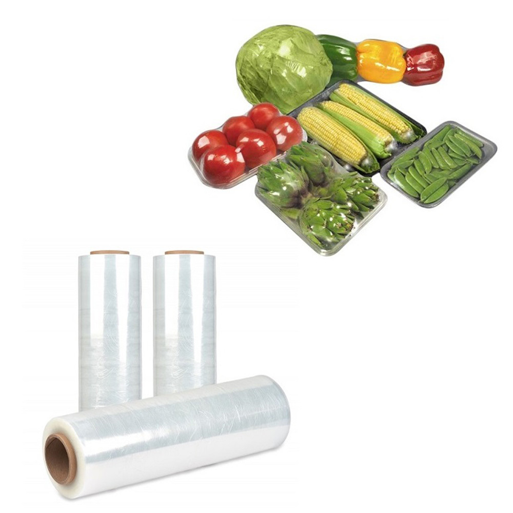 Custom logo printedeco-friendly pla cling film compostable cling wrap 100% biodegradable cling film