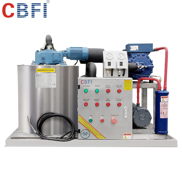 New Condition and CE Certification intdustrial automatic 500kg flake ice maker machine from Guangzhou factory
