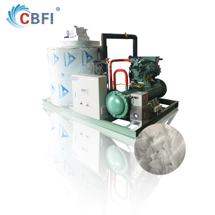 Sea water flake ice machine installed in the ship with best price